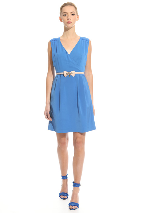 Faille and georgette dress Intrend