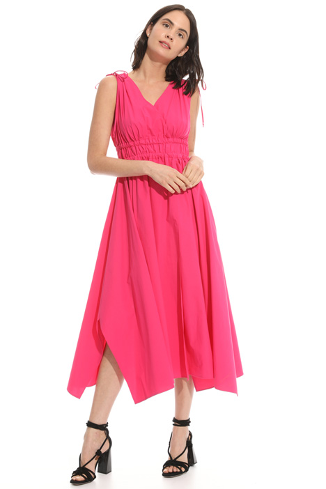 Flared poplin dress Intrend