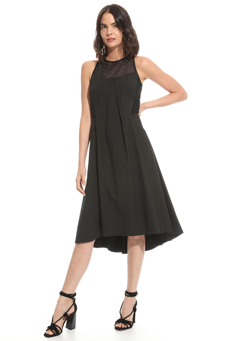 Macramé and poplin dress Intrend