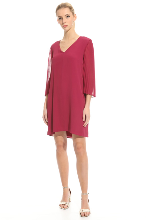 Pleated sleeve dress Diffusione Tessile