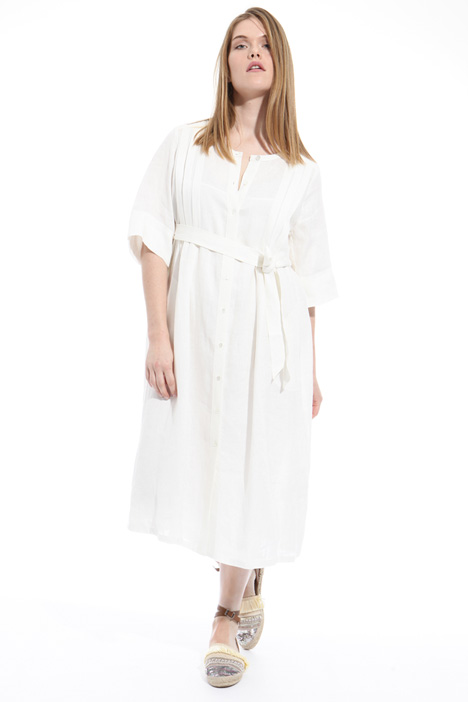 Pure linen chemisier dress Diffusione Tessile