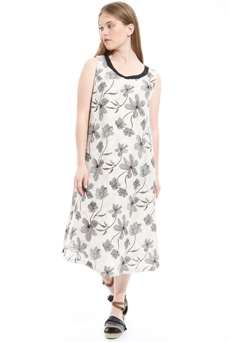 Sleeveless jacquard dress Diffusione Tessile