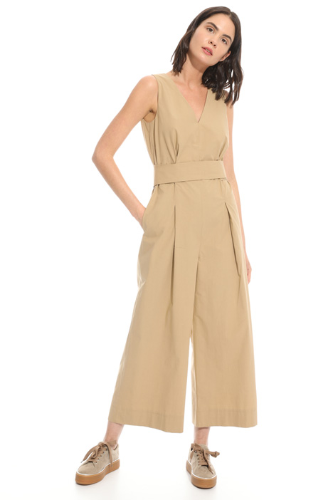 Cropped poplin jumpsuit Intrend