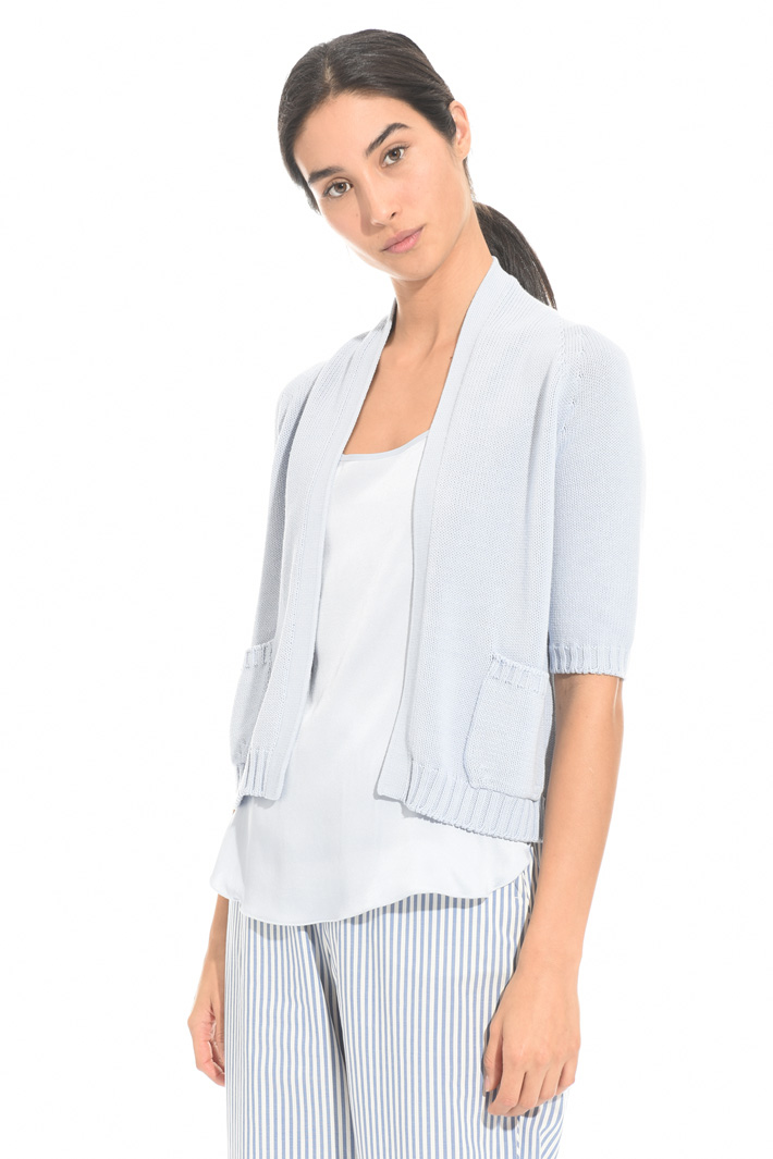 Short cotton cardigan Intrend