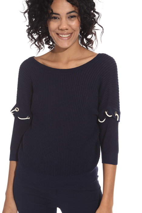 Ribbed cotton crepe sweater Intrend