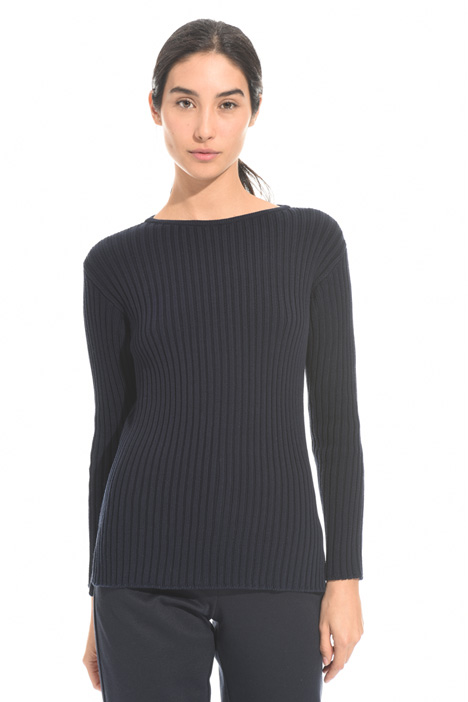 Ribbed crew neck sweater Diffusione Tessile