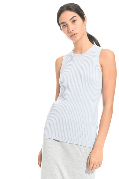 Ribbed cotton top Diffusione Tessile