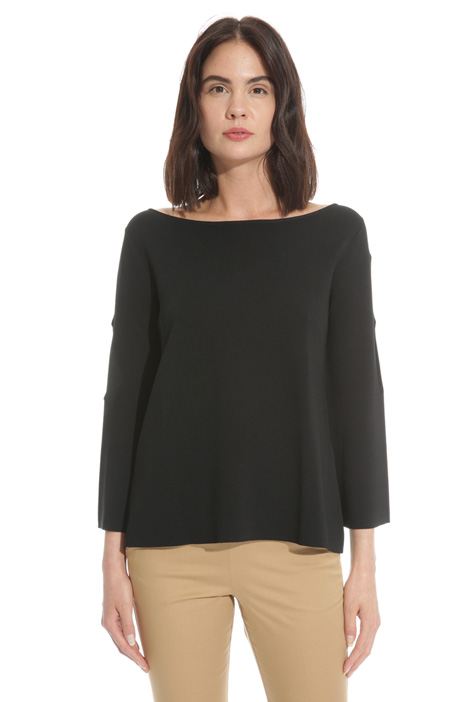 Flared sweater with openings  Diffusione Tessile
