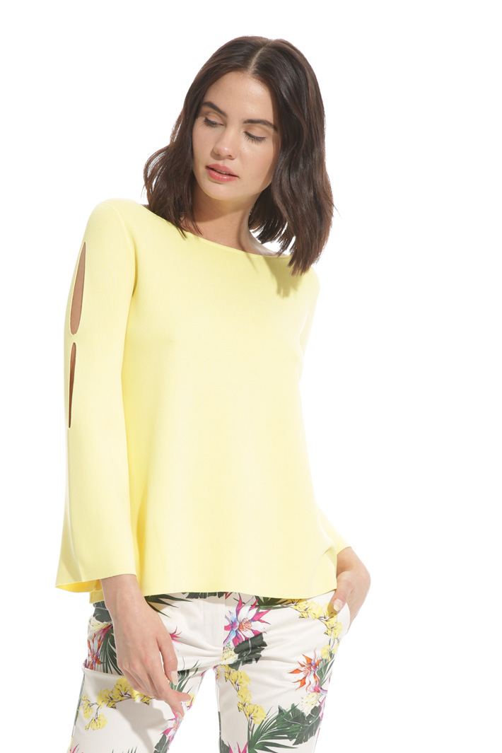 Flared sweater with openings  Intrend