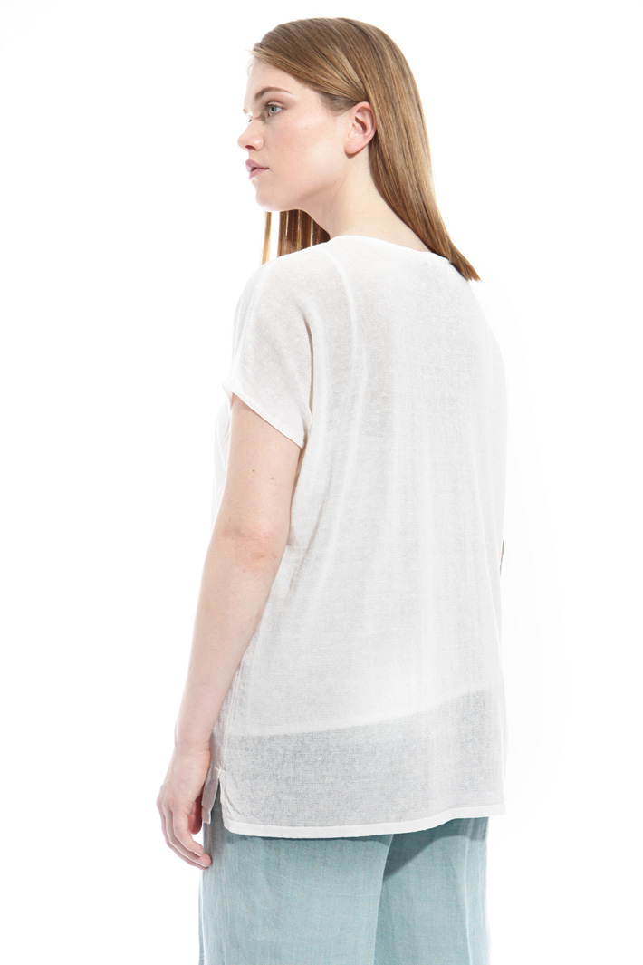 Perforated linen sweater Intrend