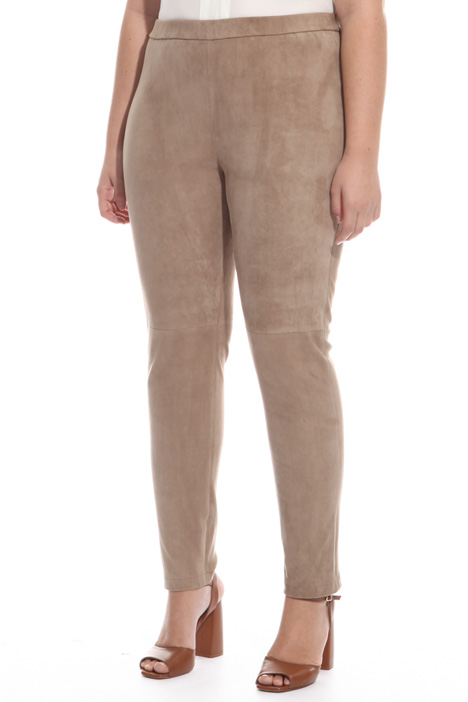 Stretch suede trousers Intrend