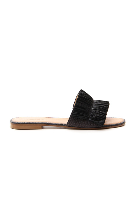 Flat rafia slipper Intrend