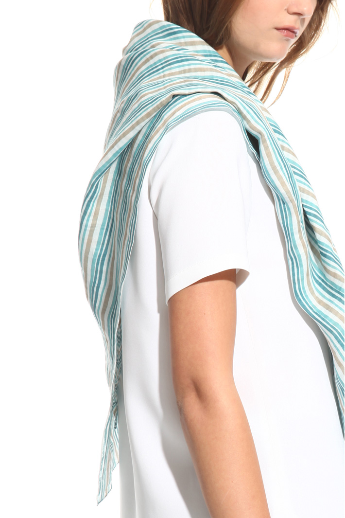 Printed ramie scarf Intrend