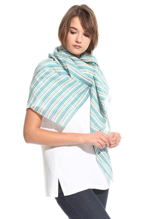 Printed ramie scarf Diffusione Tessile