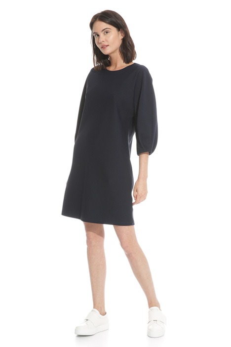 Matelassé crewneck dress  Intrend
