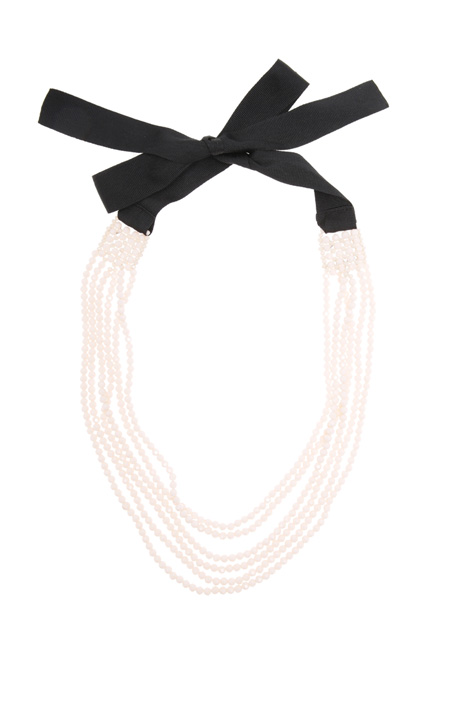 Glass multi-row necklace Diffusione Tessile