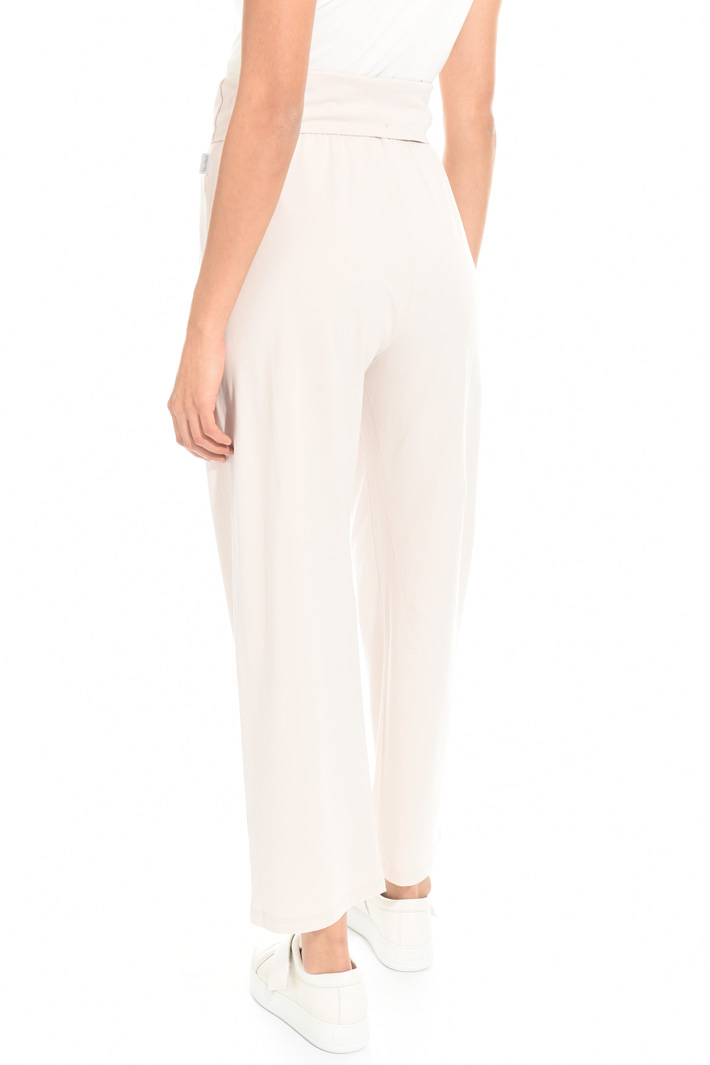 Straight fit cotton trousers Intrend