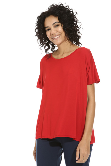 Flared viscose T-shirt Intrend