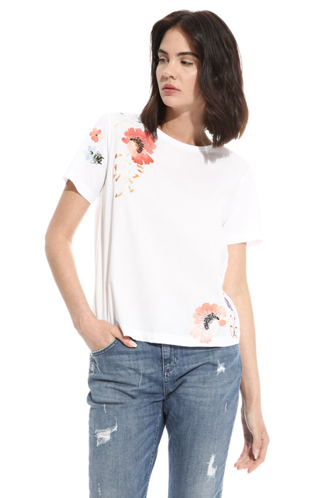 T-shirt with embroidery  Diffusione Tessile
