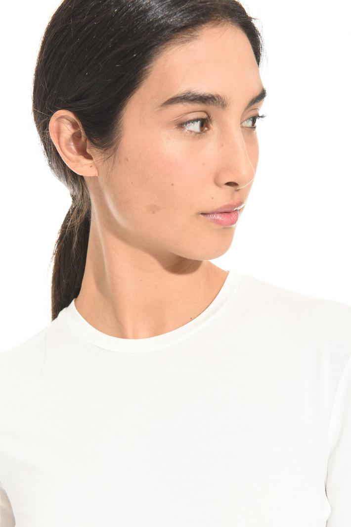 T-shirt girocollo in viscosa Intrend