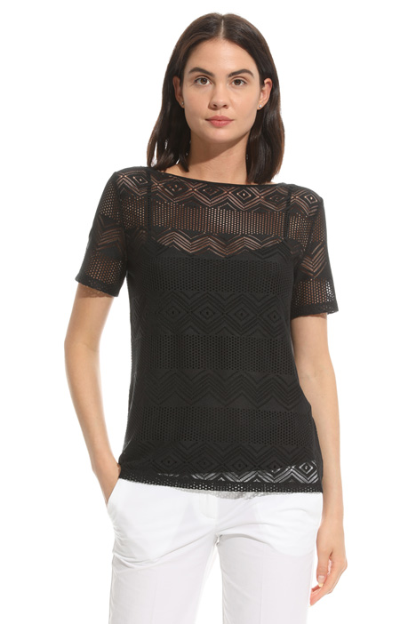 Lace jersey T-shirt Intrend