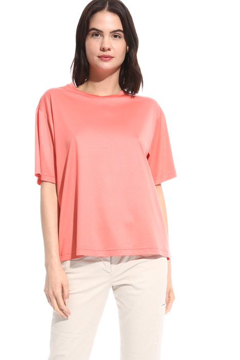 T-shirt in cotone lucido Intrend