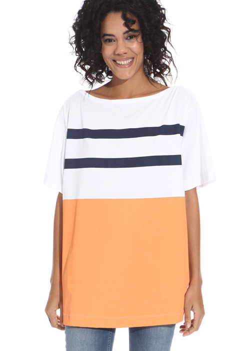 T-shirt con maxi stampa Intrend