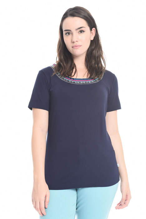 Sequin embroidered T-shirt Diffusione Tessile