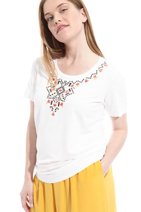 Multicolor embroidered t-shirt Diffusione Tessile