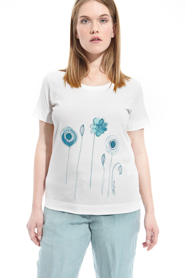 T-shirt in jersey con stampa Intrend