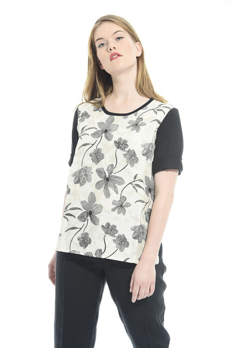 T-shirt with jacquard front Intrend