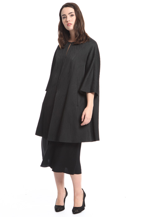 Stretch jacquard duster coat Diffusione Tessile