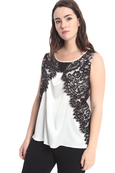 Silk and lace top Diffusione Tessile