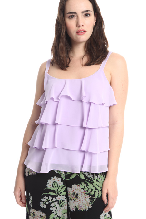 Georgette flounced top Intrend
