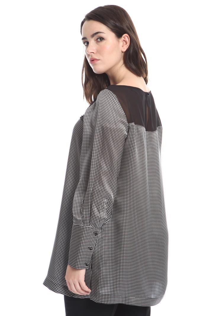 Long silk satin tunic Intrend