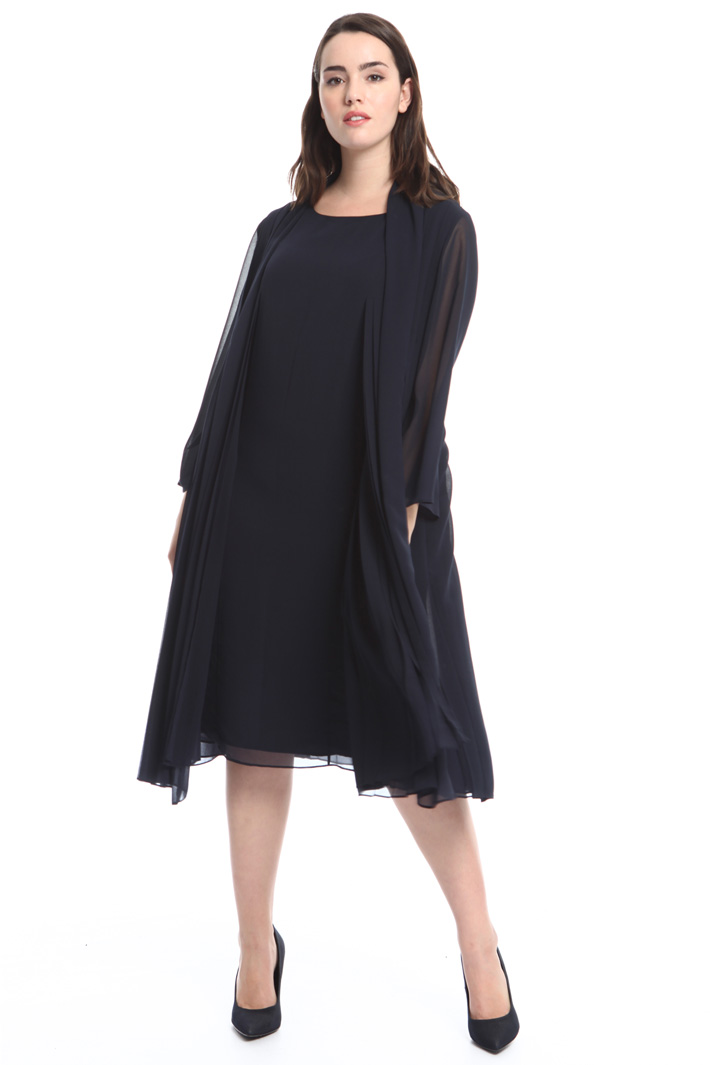 Pleated georgette duster coat Diffusione Tessile