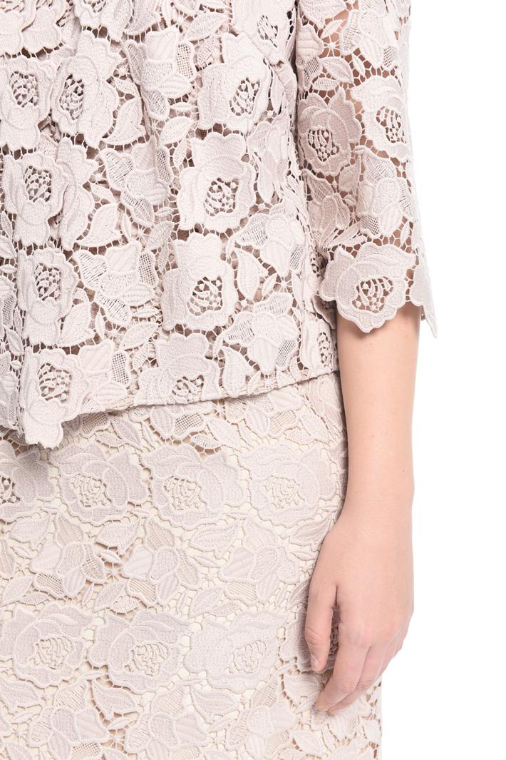 Floral macramé jacket Diffusione Tessile