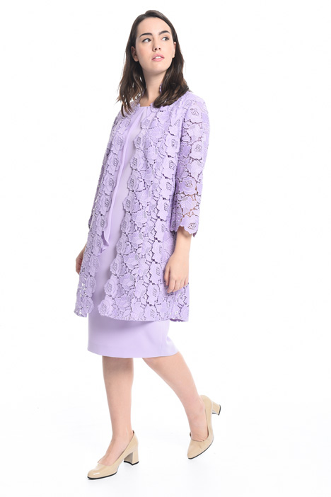Floral macramé duster coat Intrend