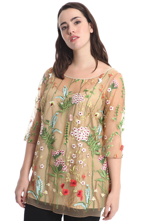 Embroidered tulle tunic Diffusione Tessile