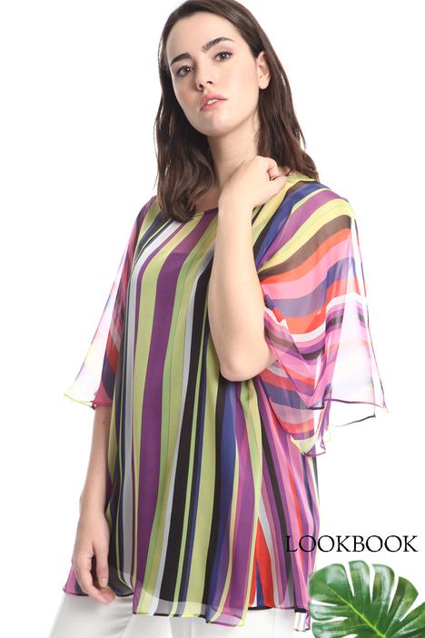 Blusa in georgette a righe Diffusione Tessile