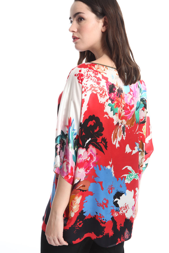 Printed silk satin blouse Intrend