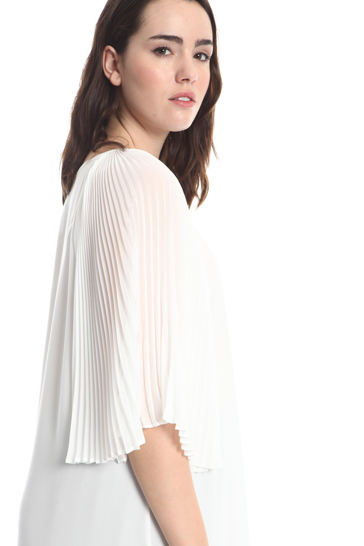 Pleated sleeve tunic Intrend