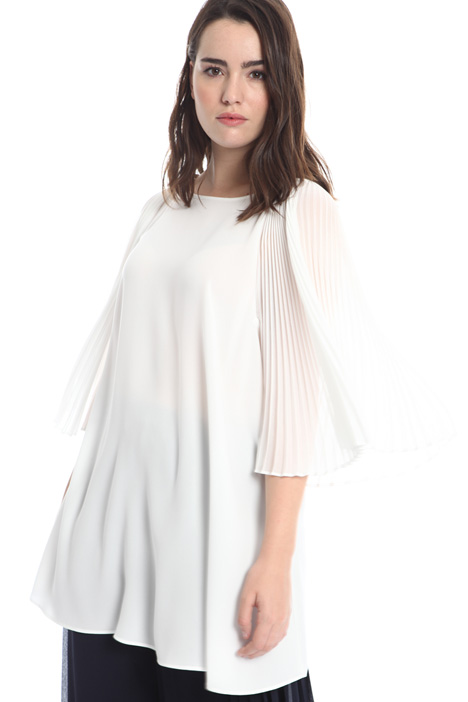 Pleated sleeve tunic Diffusione Tessile
