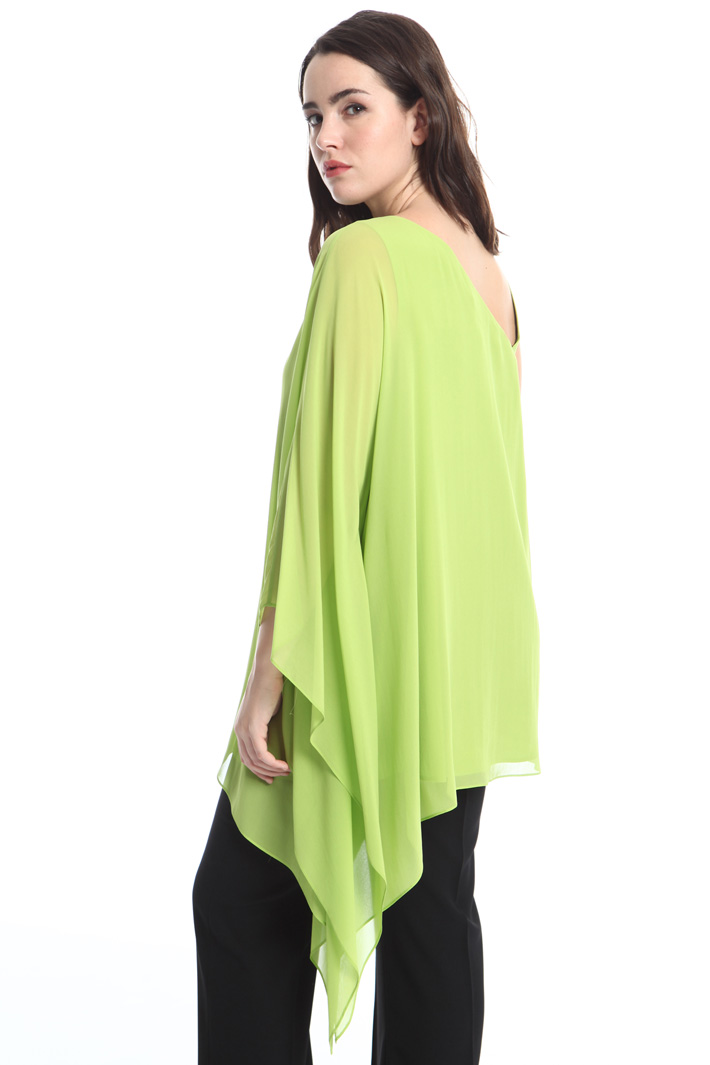 One-shoulder silk blouse Diffusione Tessile