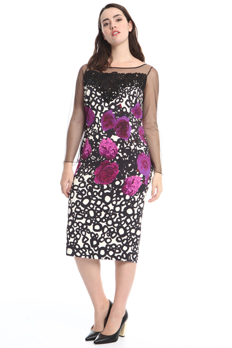 Printed cady sheath dress Diffusione Tessile