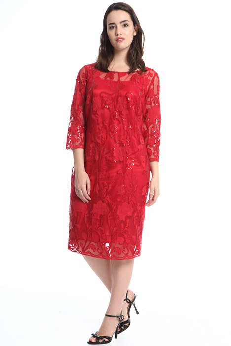 Embroidered sheath dress Intrend