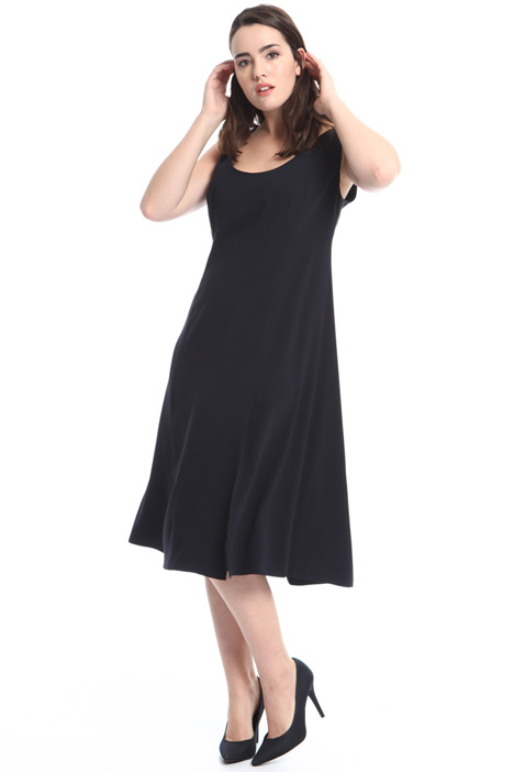 Fluid crepe dress Diffusione Tessile