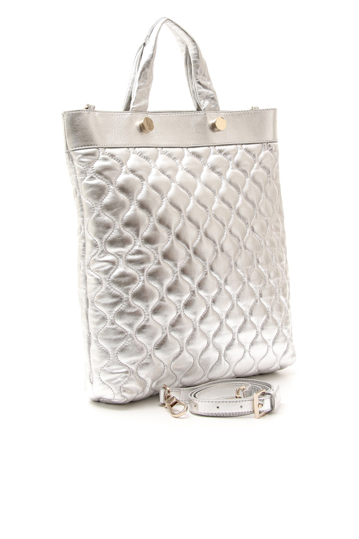 Quilted-effect shopper bag Diffusione Tessile