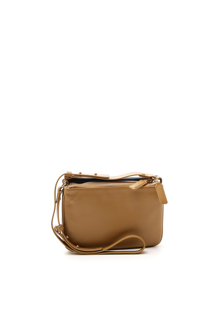 Two-tone leather pochette Intrend