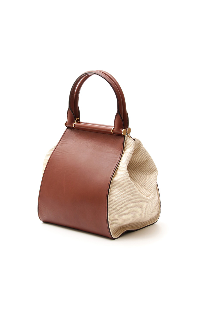 Leather and cotton bag Diffusione Tessile